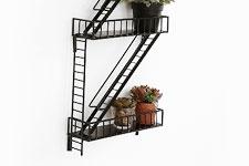 Fire Escape Wall Shelf