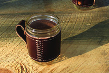 Leather Jar Travel Mugs