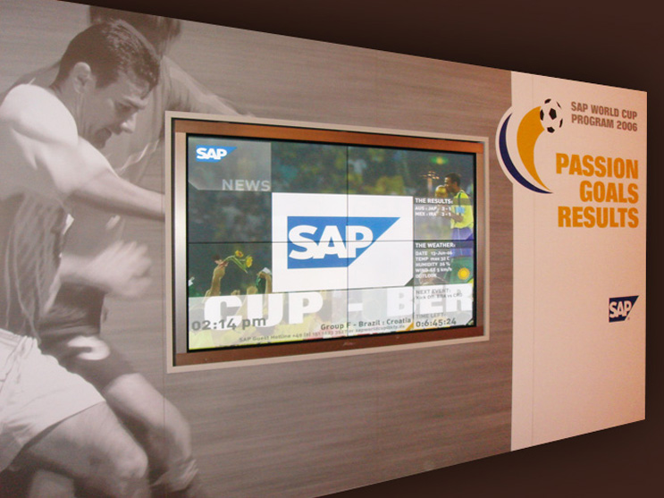 SAP TV on location during the World Cup