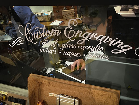 Engraving Booth