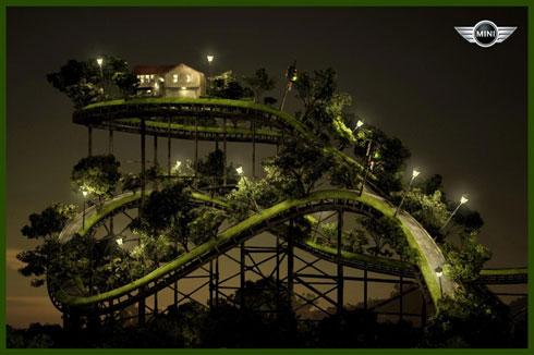 Mini Cooper Rollercoaster
