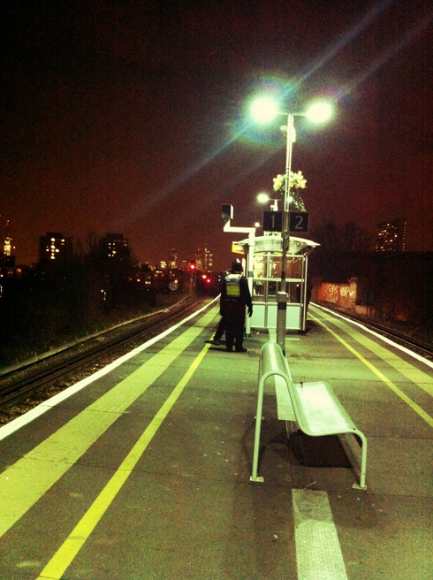 South Bermondsey Station on Football Night
