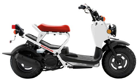 2012 Honda Ruckus - White and Red Scooter