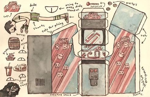 8-Bit Arcade Paper Toys