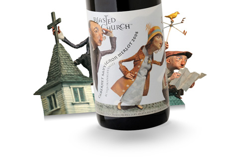 Blasted Church Wine Packaging
