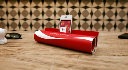 Coca-Cola Print Ad to DIY iPhone Speaker