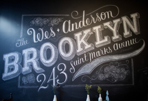 custom chalk letterer