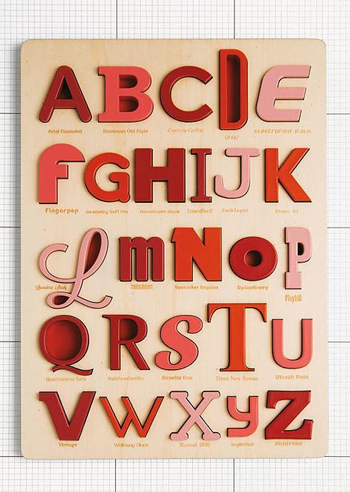 Font Alphabet Puzzle