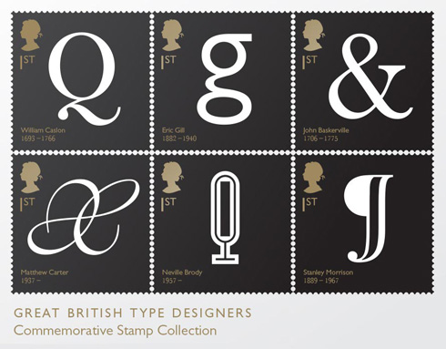 Great British Type Designer Stamp Collection