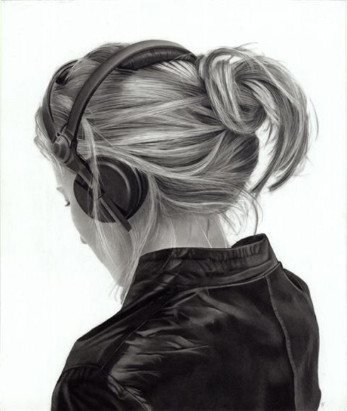 Hyper-realistic charcoal illustrations