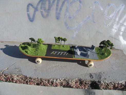 Skate Park on a Skateboard