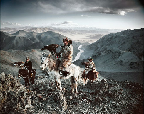 Mongolian Horses and Hawkers