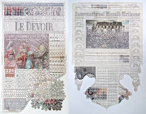 Lace Cut Newspapers