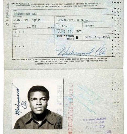 Passports of Past Icons