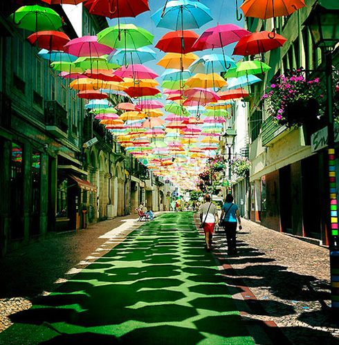 Portugese Umbrella Street