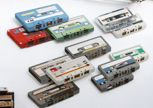 Wood Cassette Sculptures