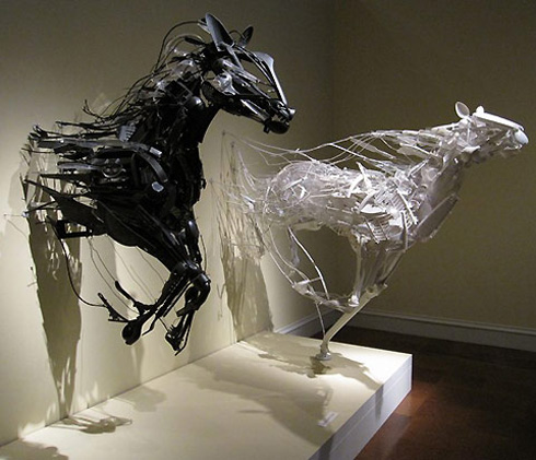 Sayaka Ganz: makes beautiful art from trash
