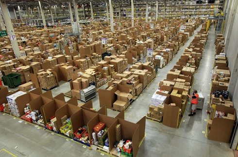 One of the Largest Amazon Warehouses in the World