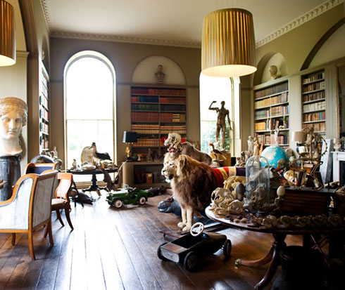 Taxidermy at Aynhoe Park, The Cotswolds