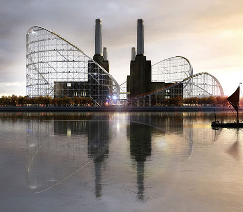 Battersea Power Station Rollercoaster