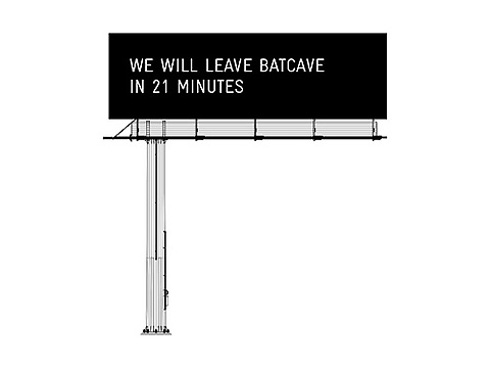 Communicating Bats Billboard