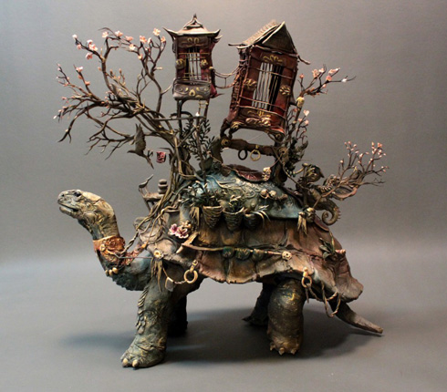 Ellen Jewett Sculptures - Plants and Animals Entwined