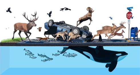Eco Surrealism by Josh Keyes