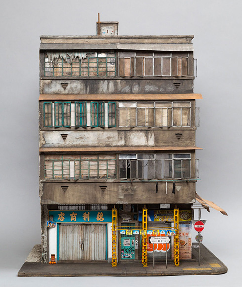 23 Temple Street Hong Kong - Scale Miniature by Joshua Smith