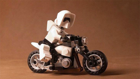 Stars Wars Lego Scout Trooper on Bike