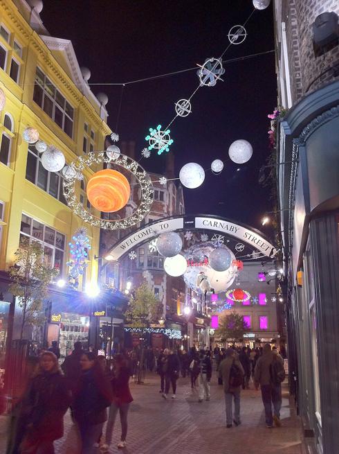 London Carnaby Street Xmas Lights 2010