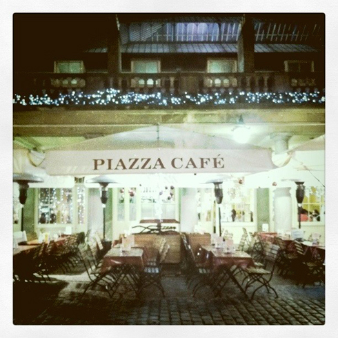 London Covent Garden Piazza Cafe