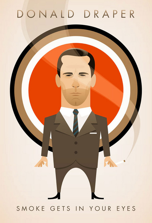 Cool Mad Men Character Poster