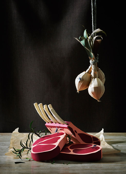 Papercraft Food Still Life