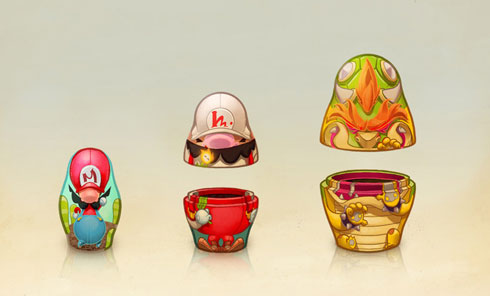 Nintendo Nesting Dolls