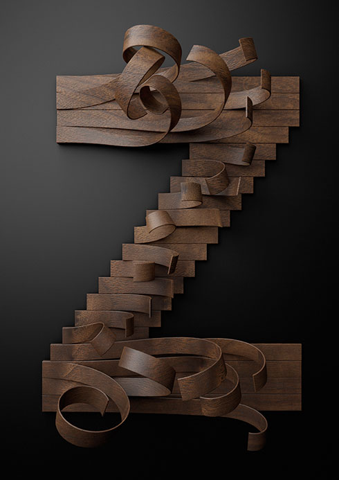 Nike Wooden Typeface