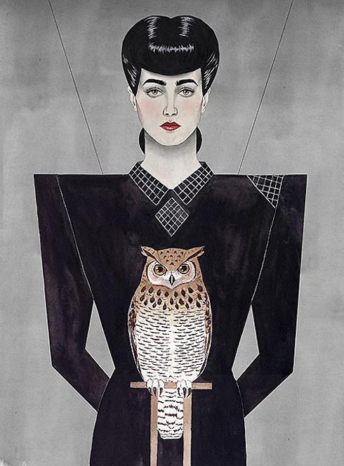 Paul X. Johnson's portrait of Rachel from Blade Runner