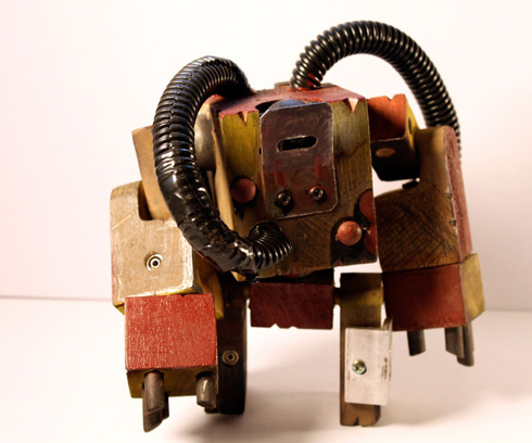Post apocalyptic robot exoskeletons made of reclaimed wood