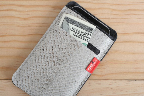 Salmon Leather iPhone Case