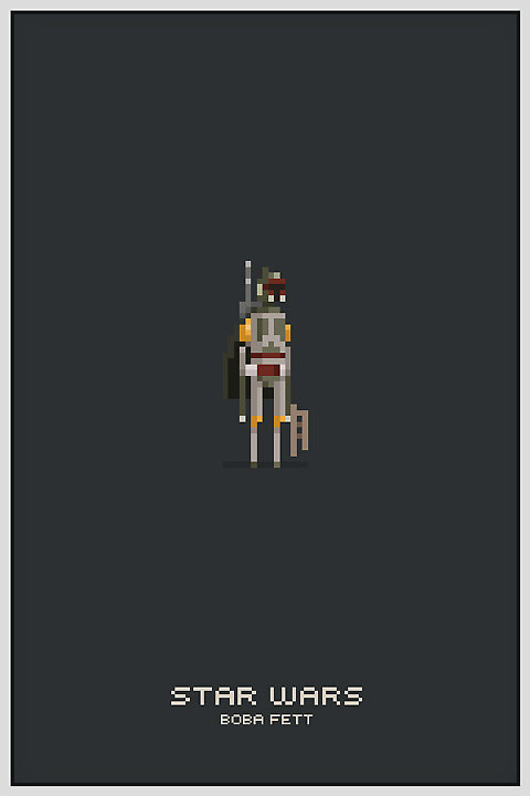 Star Wars Pixel Boba Fett